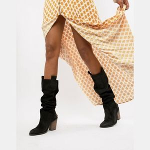 Free People Montgomery slouch boot Black Suede